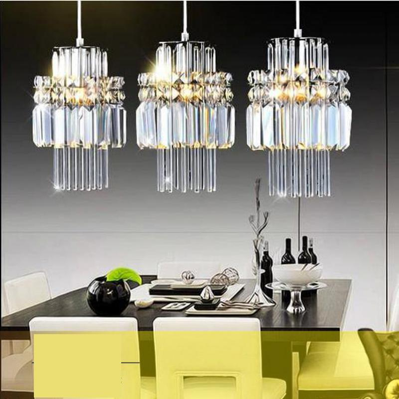 Restaurant Light Modern pendant lights European Fashion Dining Room Lamp Three Head Led Crystal pendant lamps ring led minimalist european round pendant lamp three creative head table lamp crystal restaurant dining pendant light ta10173