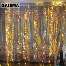 4X3/8X3/10x3M LED Curtain Lights Garland Christmas Decoration For Party Home New Year Wedding Holiday Lighting Indoor