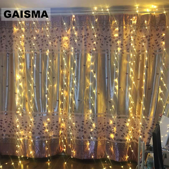 4X3/8X3/10x3M LED Curtain Lights Garland Christmas Decoration For Party Home New Year Wedding Lights Holiday Lighting Indoor