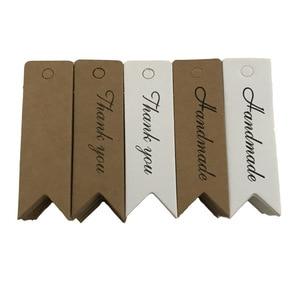 Image 3 - 100Pcs Kraft Papier Ornament Label Prijs Tags Wedding Christmas Party Favor Gift Card Goederen Bagage Tags Verpakking Labels