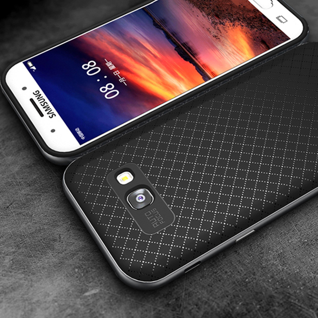 iPaky For Samsung Galaxy A5 2017 Case Armor Silicone Back Cover PC Frame Hybrid Soft Fundas For A3 A7 2017 A520 A720 Phone Cases