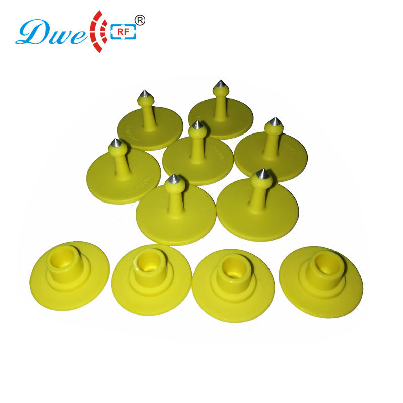DWE CC RF 100sets per lot access control 860mhz to 960mhz 6C EPC GEN2 H3 pig rfid uhf tags for cattle cow