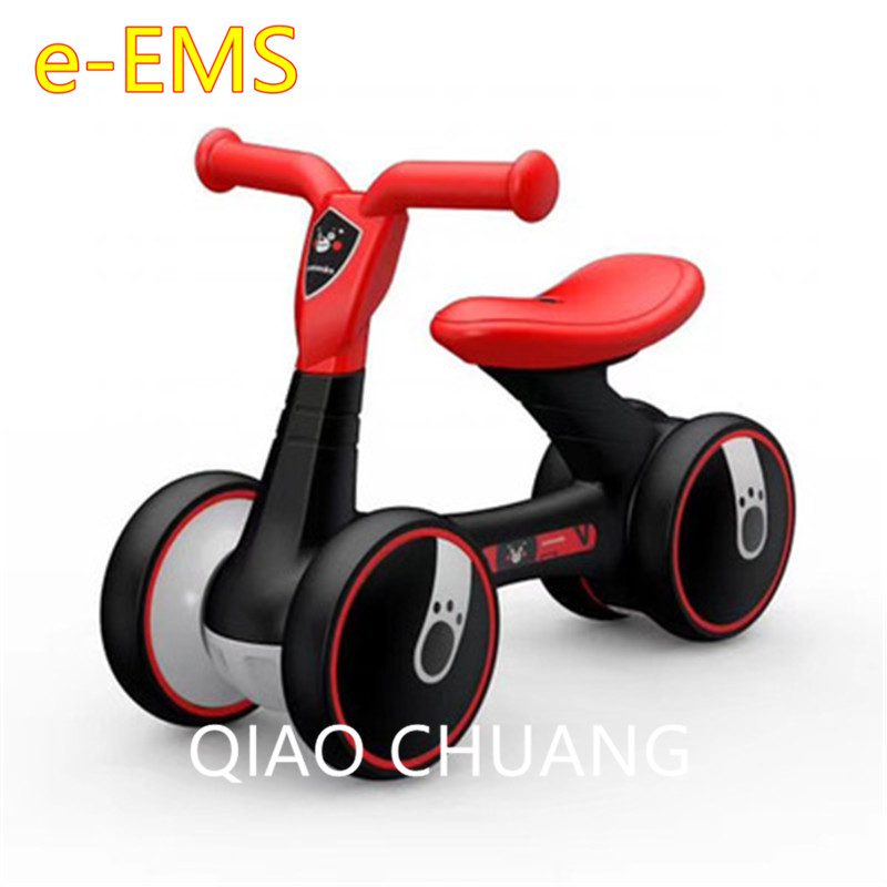 Children Baby Swing Car Four-wheeled No Pedals Balance Bike Mute Wheel Skid Resistance Exercise Your Baby's Balance G1520