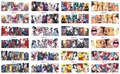 12Sheets=1lots Anime Nail art water decals stickers for nails Manicure Decor Fashion Nail Stickers Wraps Water Sticker Decals