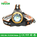 Cree T6 Waterproof headlamp  Fishing Linternas frontales cabeza 3 mode Tactical Headlight with 18650 Battery for Camping Hunting
