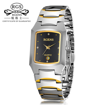 Watches Women Luxury Brand Business Men's Tungsten Steel Watches Gold Rose Square Clock Casual Men's Waterproof Quartz Watches