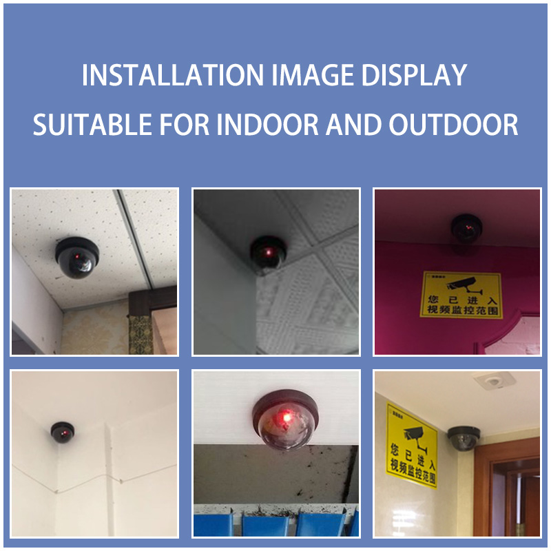 Fuers-Home-Security-Fake-Camera-Red-LED-Flash-Simulated-Camera-Indoor-Surveillance-Security-Dummy-Dome-Camera