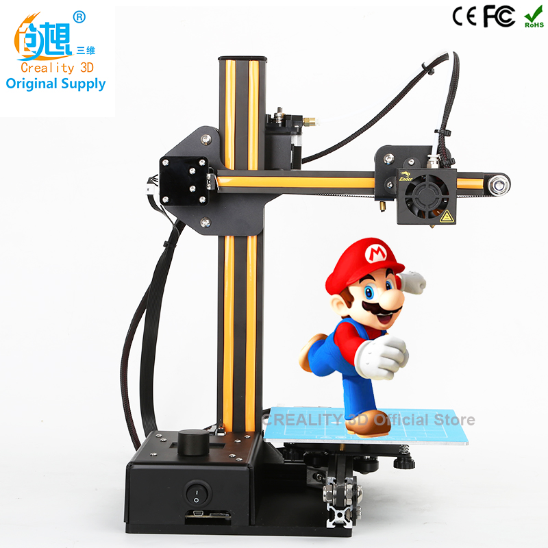 3D Printer Kits CREALITY 3D Printer kit full metal frame colorful industrial grade high precision affordble Filaments Gift high precision createbot super mini 3d printer no assembly required metal frame impresora 3d 1roll filament 1gb sd card gift