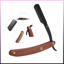 Stainless Steel Straight Edge Razor Folding Shaver Knife Barber Razor Wooden Handle Facial Hair Eyebrow Beard Shave Shaving Tool цена и фото