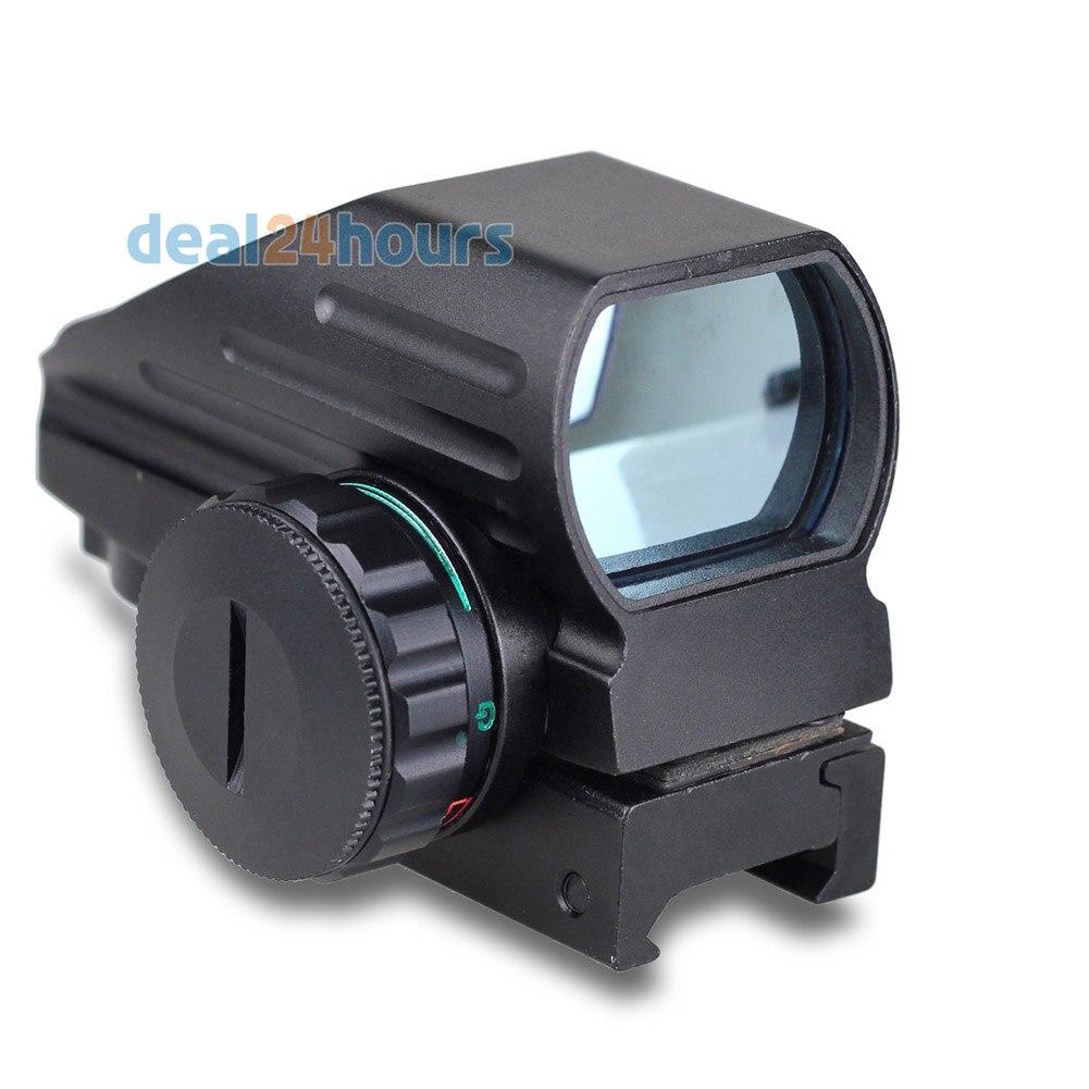 Tactical Reflex Rosso/Laser Verde 4 Reticolo Olografico Proiettata Dot Sight Scope Airgun Rifle sight Caccia Rail Mount 20mm