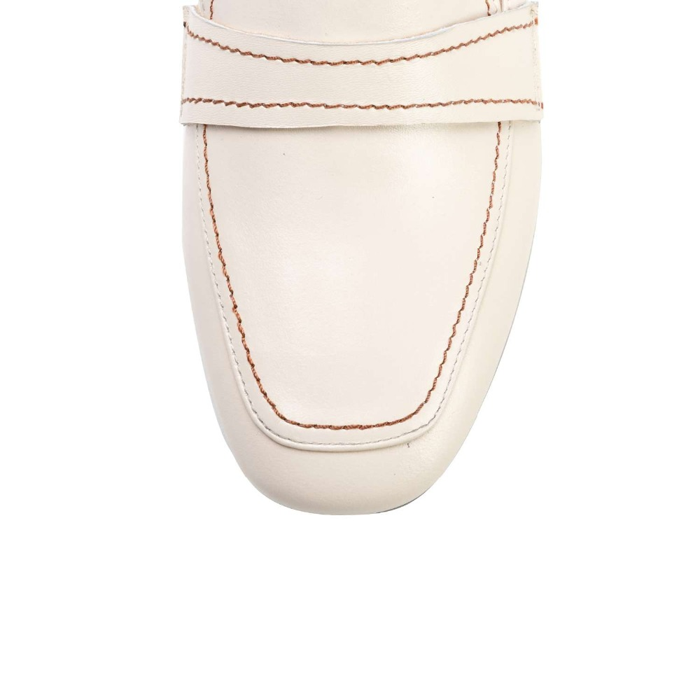 Lenkisen 간결한 브랜드 낮은 발 뒤꿈치 봄 가을 클래식 광장 발가락 슬립 암소 가죽로 퍼스 수제 데이트 파티 펌프 l18-에서여성용 펌프부터 신발 의  그룹 3