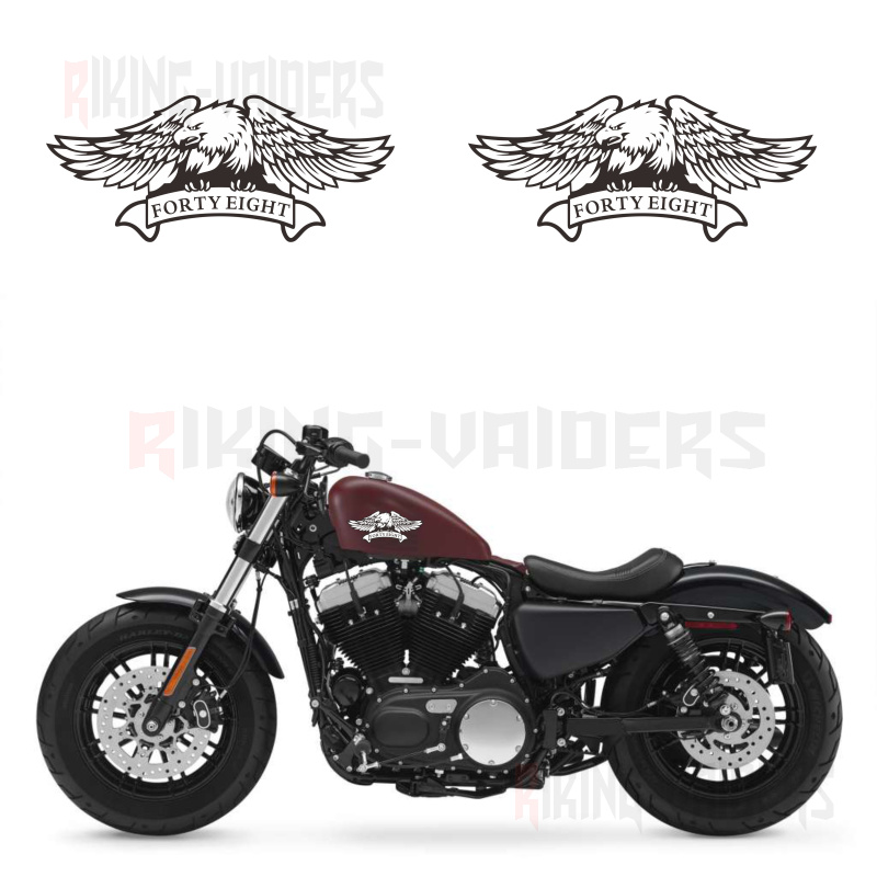 Custom Eagle Logo Stickers Fuel Tank Decals Vinyl Sticker For Harley Sportster XL1200X Forty Eight