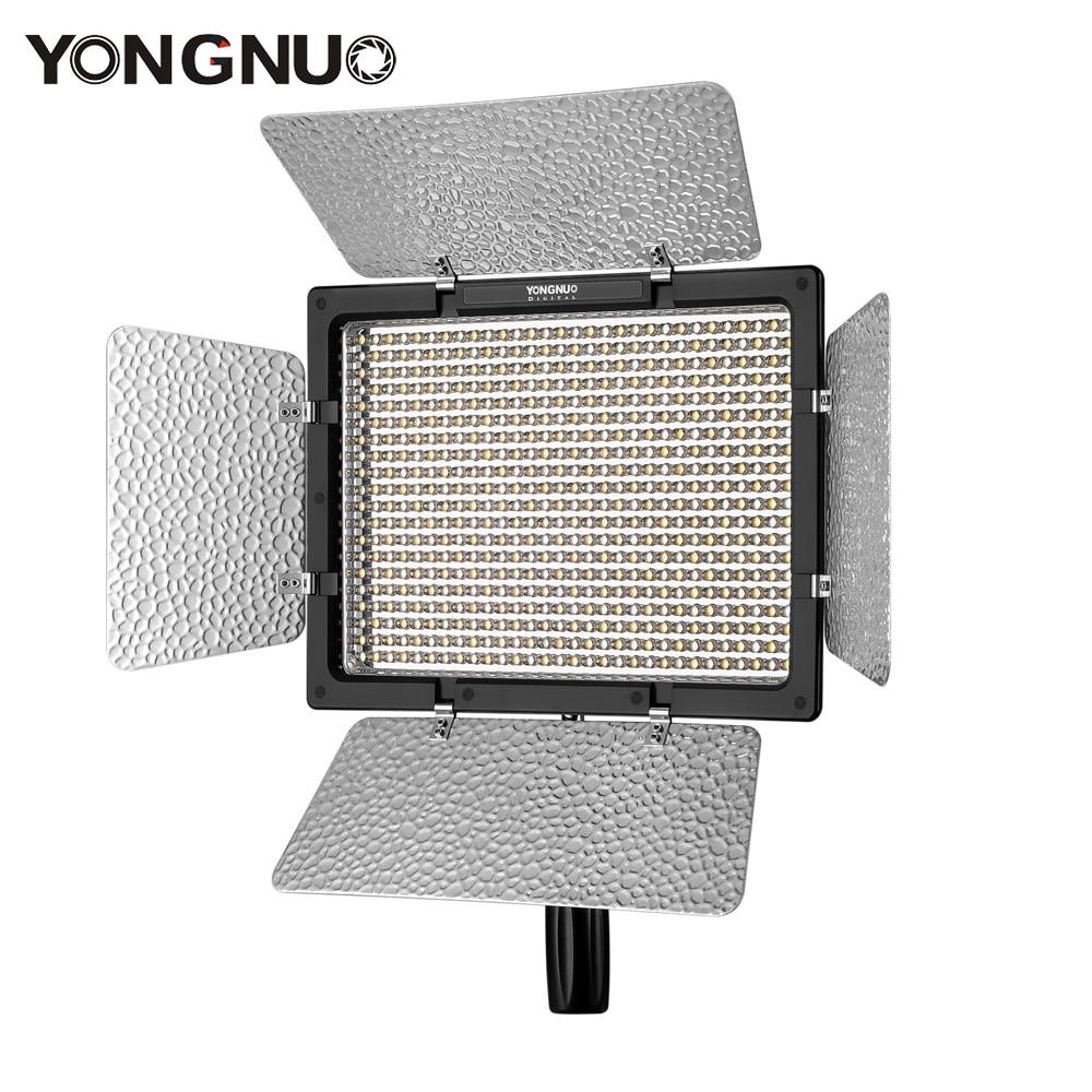 YONGNUO YN600L LED Video Light Panel 3200 K 5500 K Video Light Lamp Kleur Verstelbare Temperatuur voor Canon Nikon camcorder DSLR-in Fotografieverlichting van Consumentenelektronica op  Groep 1