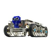 Умная тележка робот шасси умный гусеничный автомобиль трек Arduino гусеничный Танк автомобиль DIY шасси платформа