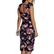 d553e03c60 2017 Women Summer Sexy black cherrykeke Halter Collar short dresses printed  floral pattern Women sleeveless informality