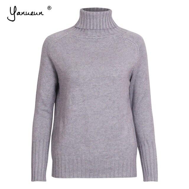 Yanueun Autumn Winter Womens Sweaters And Pullovers Basic Turtleneck ... d5d685e63