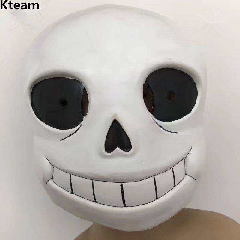 Top Grade 100% Latex chaud jeu sous-conte masque dur Latex Cosplay Sans Papyrus casque pleine tête masques Halloween fête Prop jouets