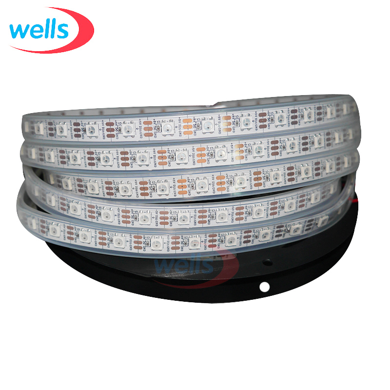 New Led 5V 4M WS2812B Led Light 60 Pixel/M Led Strip waterproof WS2812 White/Black PCB flexible Light Strip Diod Lamp Ledstrip usb powered 18 led white light flexible desktop lamp w adapter white silver
