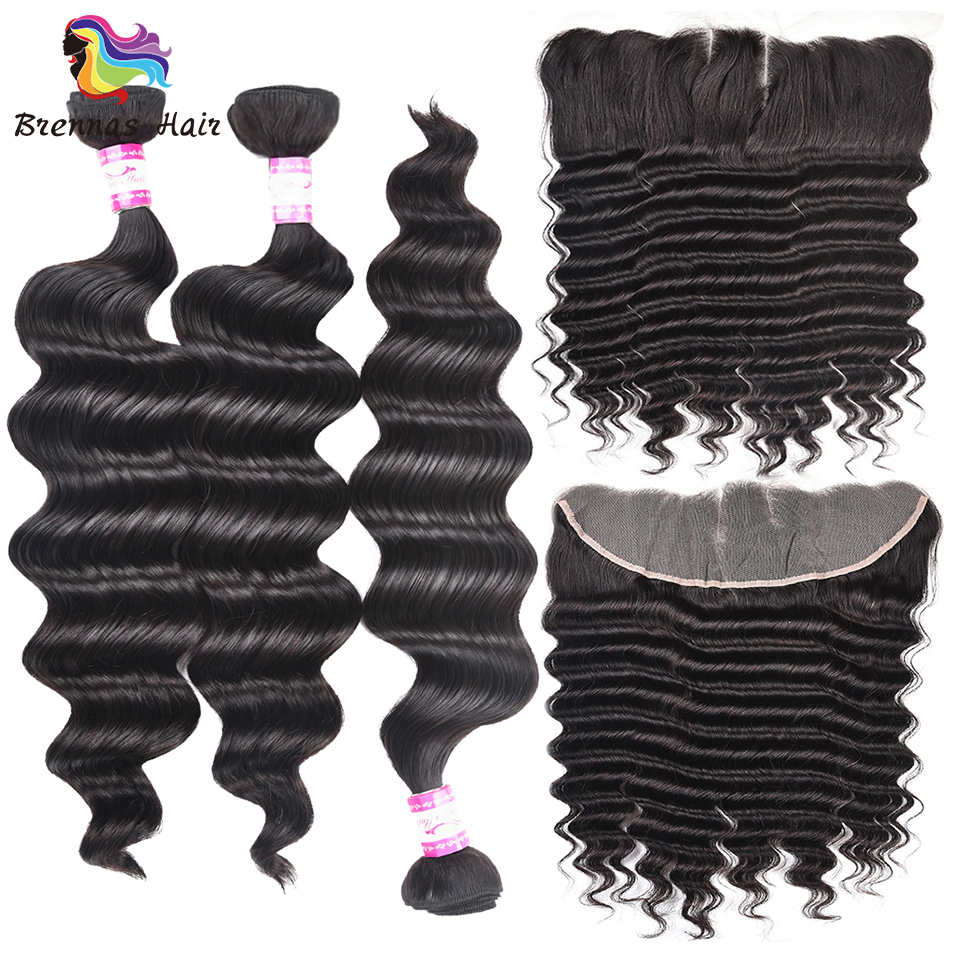 free shipping Brazilian loose wave 3 Bundles With 13 4 Frontal closure 100 Human Remy Hair
