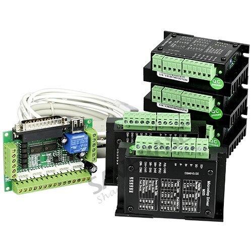 Buy 5 axis diy cnc kit for nema16 nema17 for 3 axis nema 23 stepper motor driver controller cnc kit