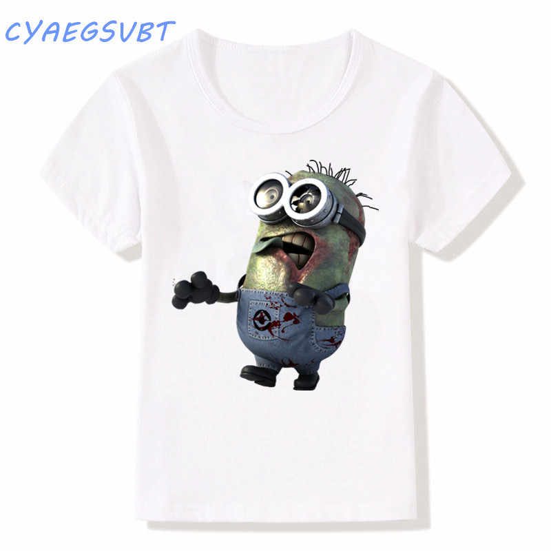 75b987270 Detail Feedback Questions about Cartoon Minions zombie personality Children  T shirt new style boys/girls summer T shirt Baby clothing top print Kids  tshirt ...