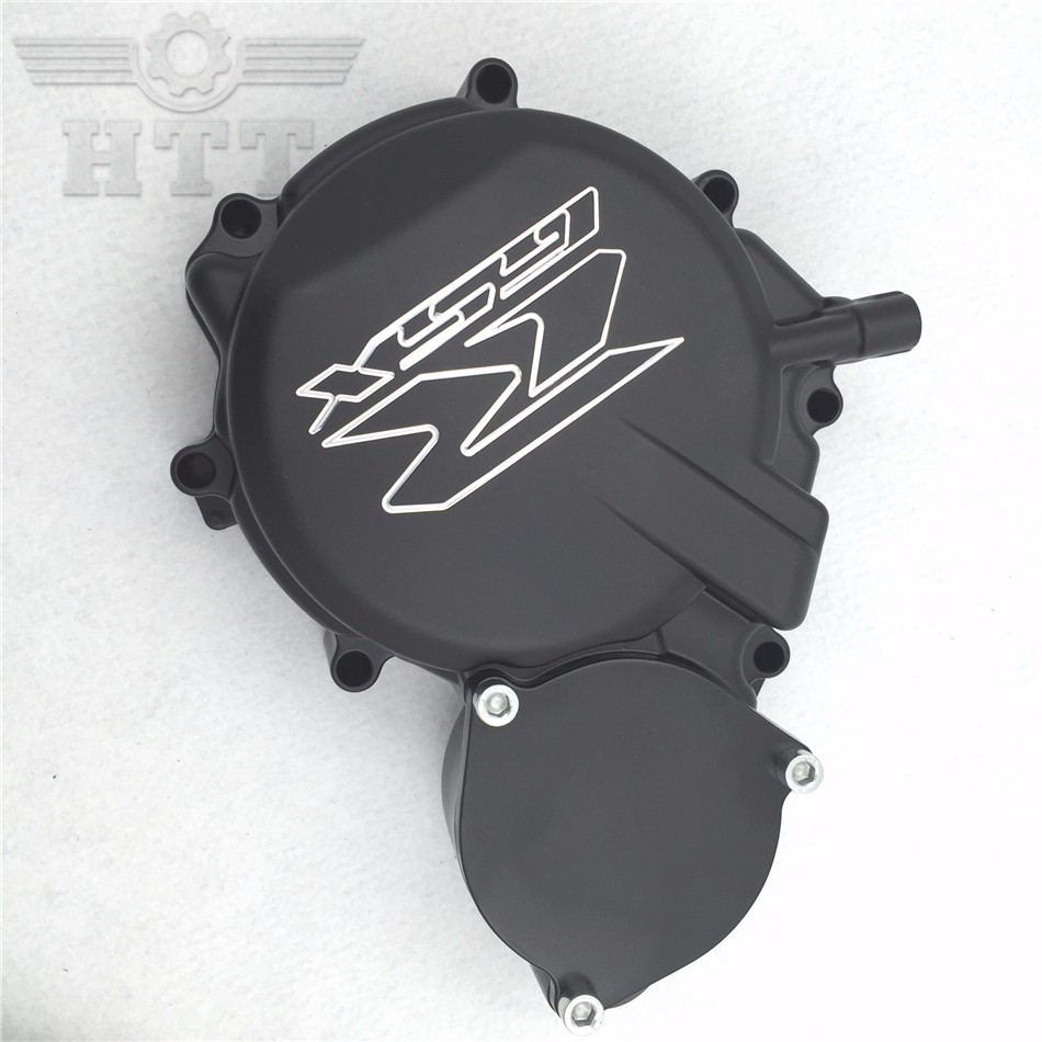 Aftermarket free shipping motorcycle accessories Engine Stator cover Suzuki GSXR600/750 2008 2009 08-09 BLACK Left side aftermarket free shipping motorcycle parts engine stator cover for suzuki hayabusa gsx 1300r 1999 2015 left side chrome