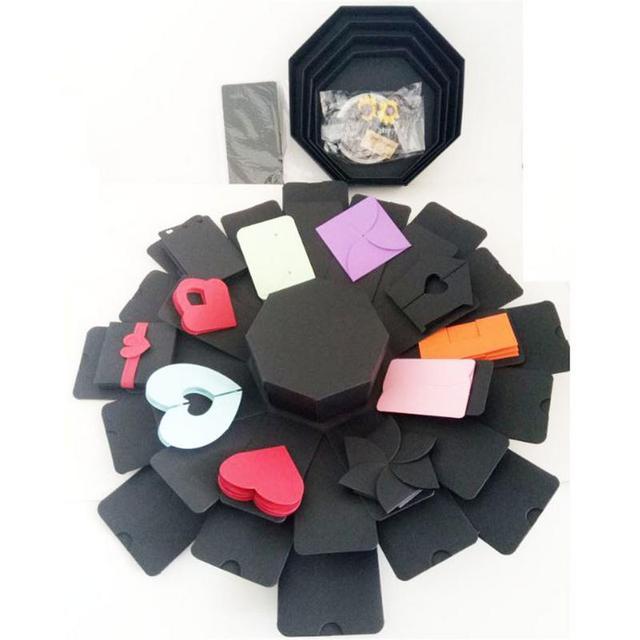 8 Sided 5 Layer Photo Album Storage Box Innovative Gift Box DIY Photo Album Box