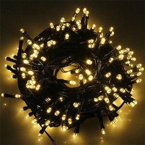 Image 3 - 10 メートル 80 の Led クリスマスストリングライトブラックワイヤー妖精ストリングライト屋外ガーランドウェディングパーティーホリデーのための