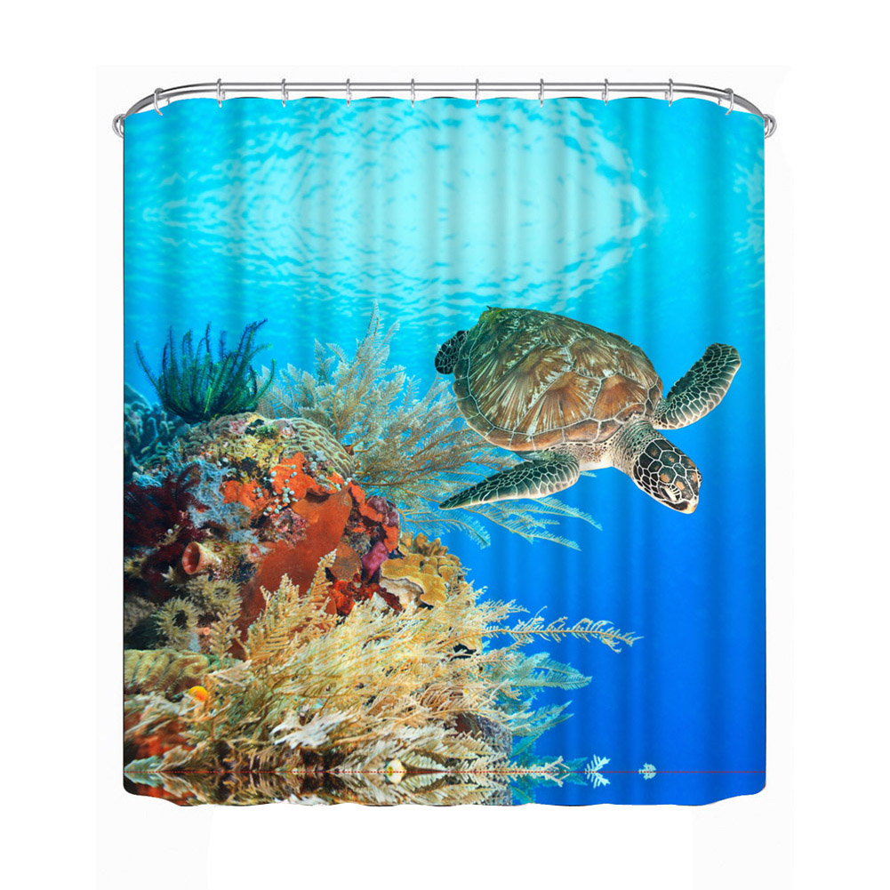 Sea Turtle Bathroom Accessories Popular Shower Curtain 3d Buy Cheap Shower Curtain 3d Lots From