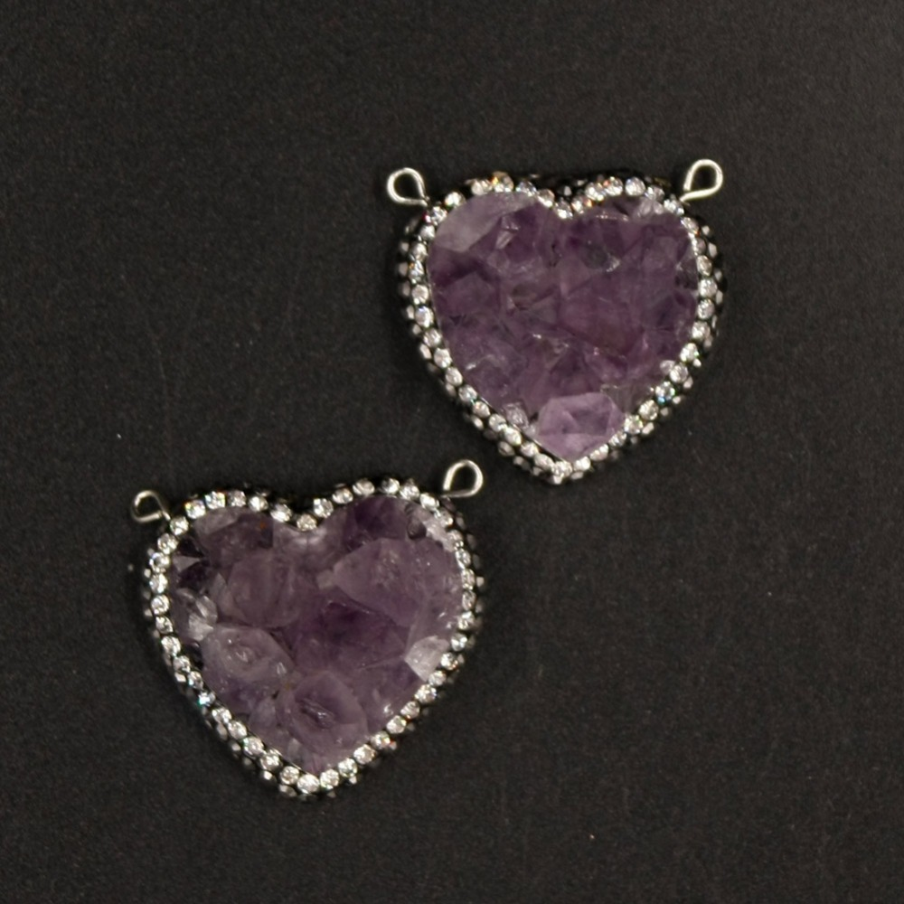 heart purple clever clad necklace products crystal