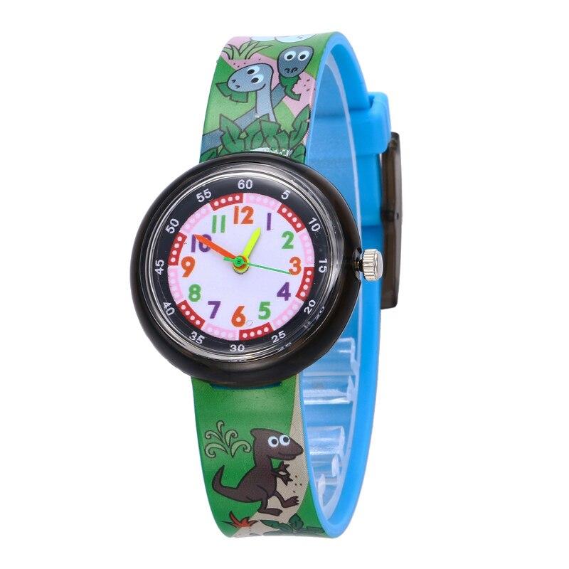 Brand New Fashion Cartoon Cute Harajuku Dinosaur Girl's Boy's Children Watch Waterproof SportS Jelly Watch Women HOT Wrist Watch