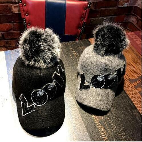 Winter Wool Baseball Cap Youth Fashionable Joker Warm Caps Adjustable Hats шапка детская dc trilogy youth hats nautical blue