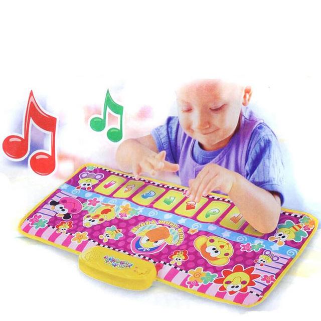 2017 Novos Animais Cobertor Música Rastejando Almofadas Brinquedos Puzzle Jogos Cobertor Do Bebê Na Primeira Infância Música Músicas