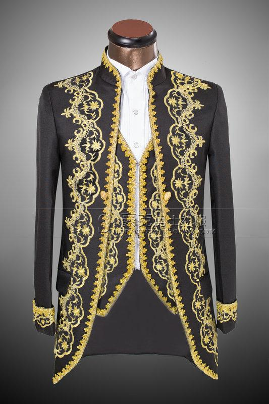 Robe Brodé Fit Pantalon GiletOr veste Costume Mâle 2 Costumes Marié Bal Pour 2018 De Hommes Mariage Smoking 1 Slim Tailcoat Mode mnN0w8