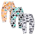Kawaii Unisex Baby Boy Girls 100% Cotton soft pants gorros fox Trousers panda Toddlers animal Trousers For Infant children