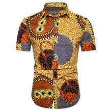 Men Shirt Fashion Linen Casual Slim Print Short Sleeve Hawaiian Beach European Size Camisa Masculina