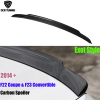 For BMW F22 F23 Spoiler 2 Series F22 Coupe & F23 Convertible & F87 M2 Carbon Fiber Wings Exot Style 2014 UP 218i 220i 228i M235i
