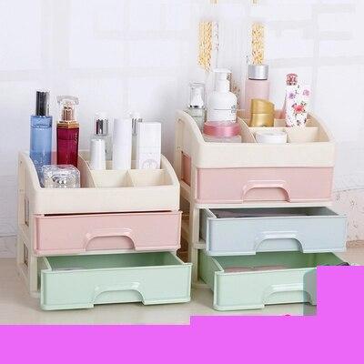 Boîte à cosmétiques boîte de rangement boîte de finition de bureau princesse maison cosmétiques tiroir en plastique petit mini mignon
