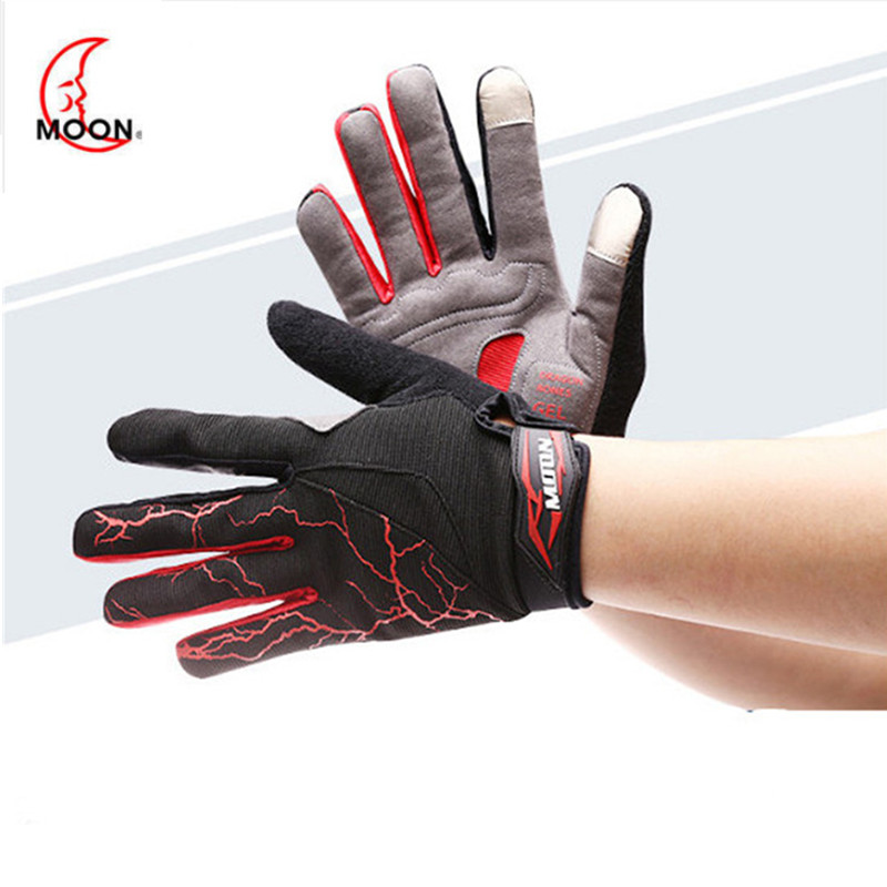 MOON Winter Warm Ski Gloves Scrubbing/Silica Anti-skid Fabric Touchable Gloves For Riding Outdoor Sport Riding Heated Gloves A90