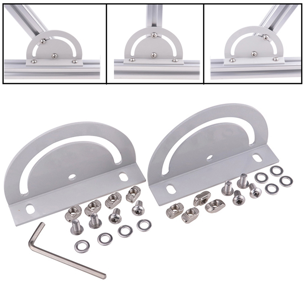 Cross Joint Plate Steering Connecting Plate Corner Bracket for Aluminum Extrusion 3030 4040 Series with Screw/washer/tool aluminum alloy zinc alloy flexible pivot joint connector with handle for aluminum extrusion profile 3030 4040 4545 series