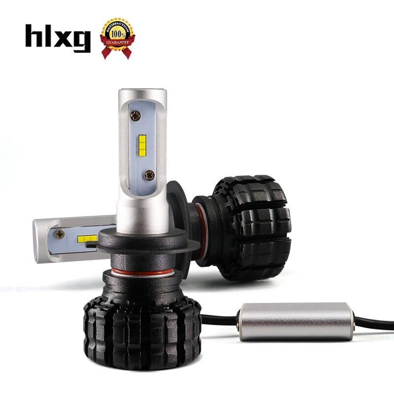 HLXG New Upgrade Car Headlight Bulb H11 H7 LED H8 H9 HB3/9005 HB4/9006 50W 8000LM 6000K Automobiles Headlamp DRL Fog Lights 2017 upgrade h4 led car headlight bulb kit 50w 6000lm 12v plug