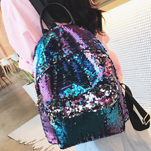 Women Sequin Backpack mochila lentejuelas Teenager Girl School Bags Bling Bling Lady Backpacks bolsa feminina sac a main femme