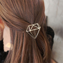 2pcs lot Women Plated Silver Diamond Hairpins Girls Hollow Out Geometric Hair Clips Hair Accessories Party