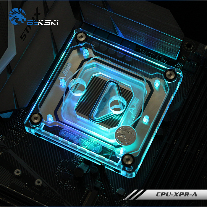 Bykski <font><b>CPU</b></font> Water Block for INTEL LGA 1151,<font><b>2011</b></font>,2066 platform,RGB Water cooling Processor Cooler ,XPR-A <font><b>V3</b></font> image