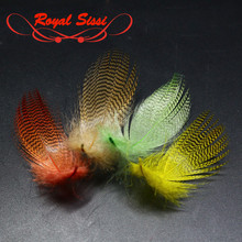 RoyalSissi 30feathers pack finely noticed mallard flank feathers hand chosen teal duck feathers wings&tails fly tying materials