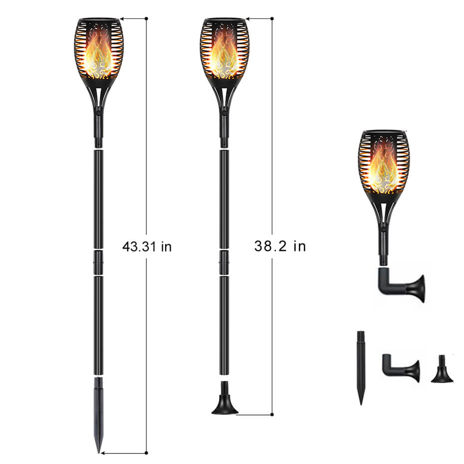 55inch LED Waterproof Flickering Flame Solar Torch Light Garden Lamp Outdoor Decoration Landscape Light Lawn Lamp Path Lighting55inch LED Waterproof Flickering Flame Solar Torch Light Garden Lamp Outdoor Decoration Landscape Light Lawn Lamp Path Lighting