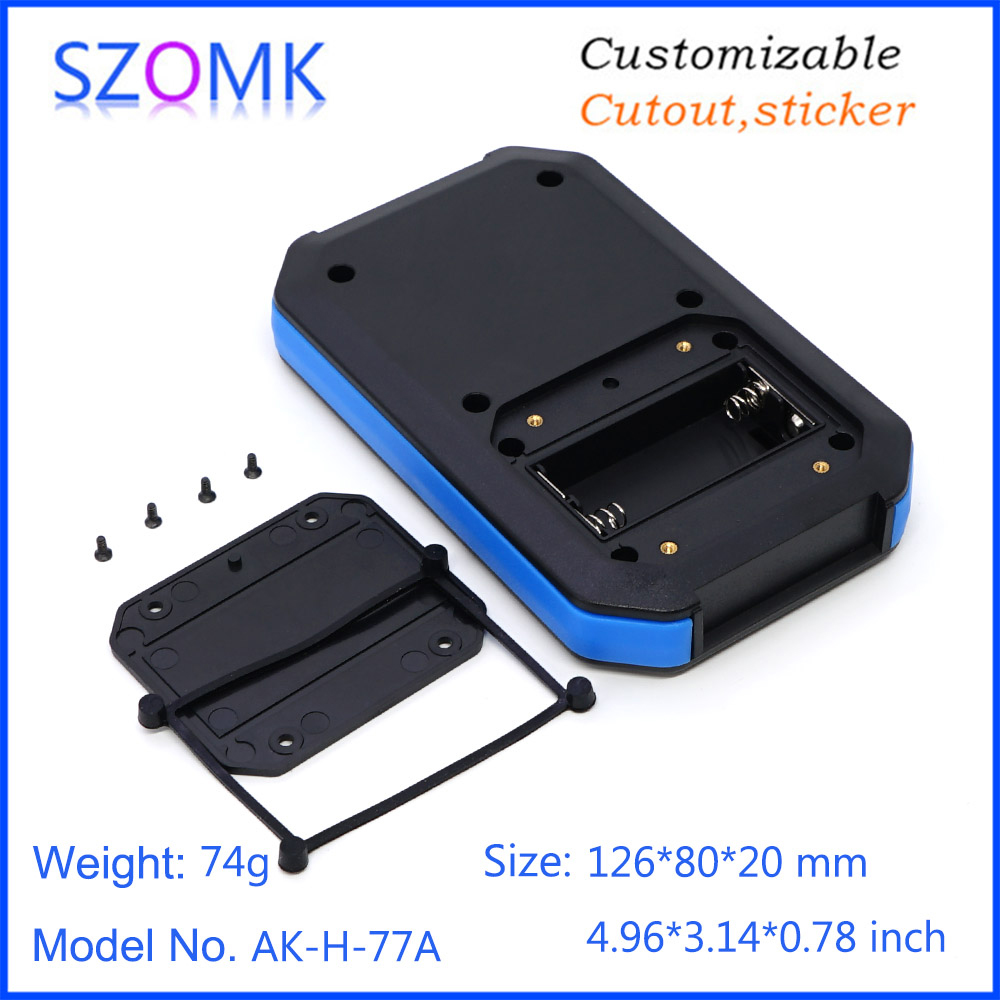 1 Piece 126*80*20mm IP65 2x AAA Plastic Enclosure For Electronics Junction Box Customizable Waterproof Housing Instrument Casing