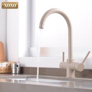 Image 5 - XOXO grifo de cocina con filtro de agua potable, grifo mezclador montado en cubierta cromado, filtro de agua pura de rotación 360, fregaderos de cocina, 81038