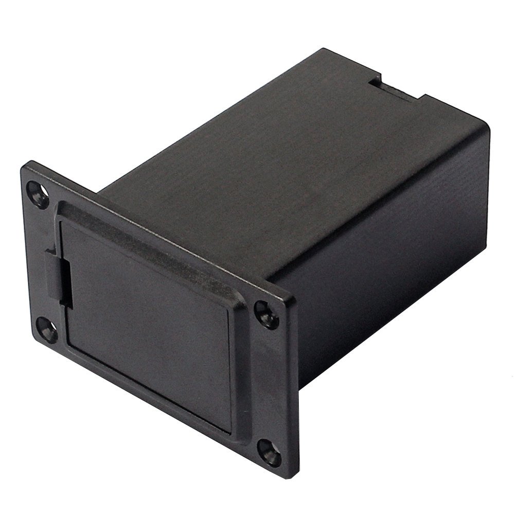 New 1pc 9V Battery Black Holder Case Box Compartment Cover Guitar Bass Pickup