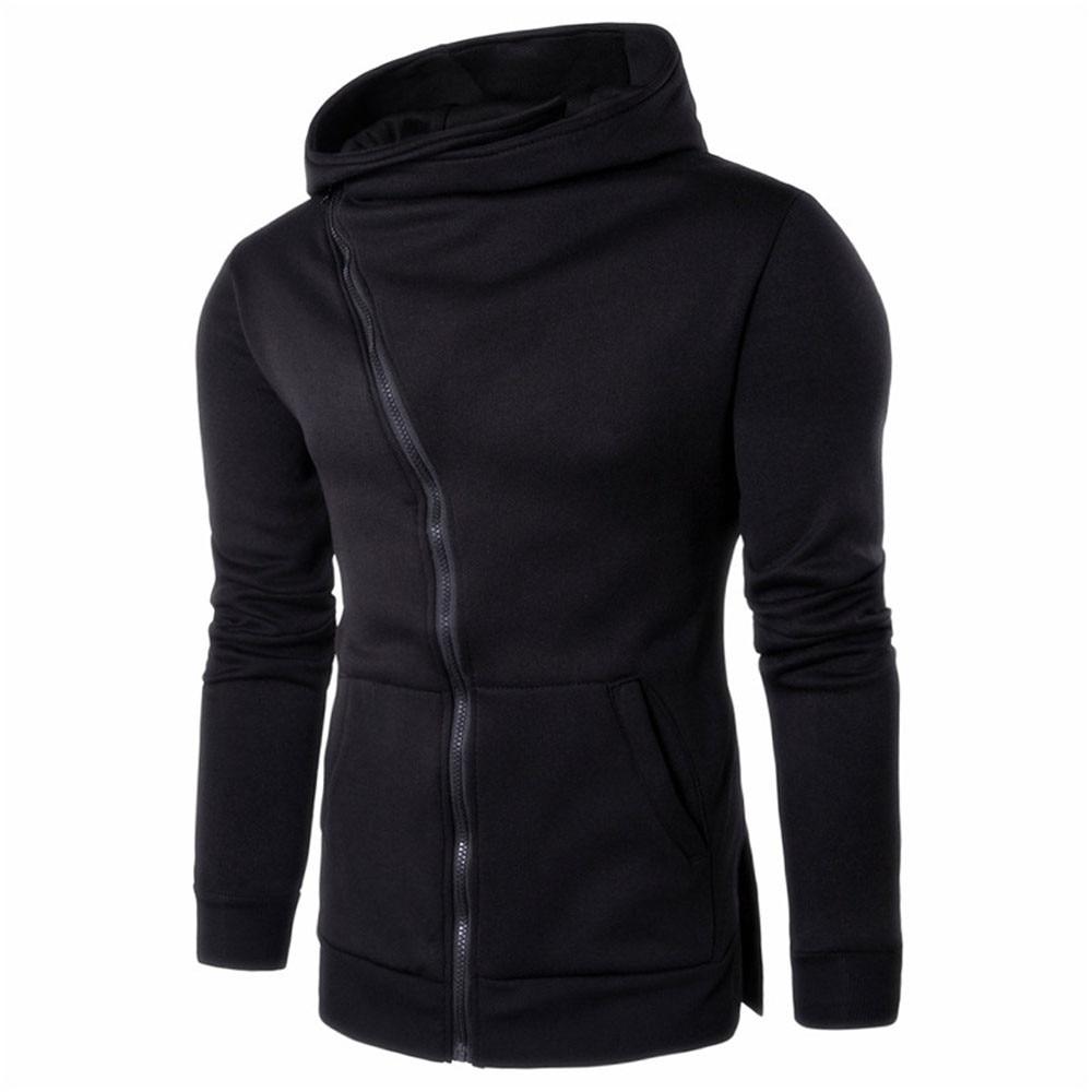 Men Zipper Hooded Coat Outwear font b Sweater b font Casual Shirt T shirts font b